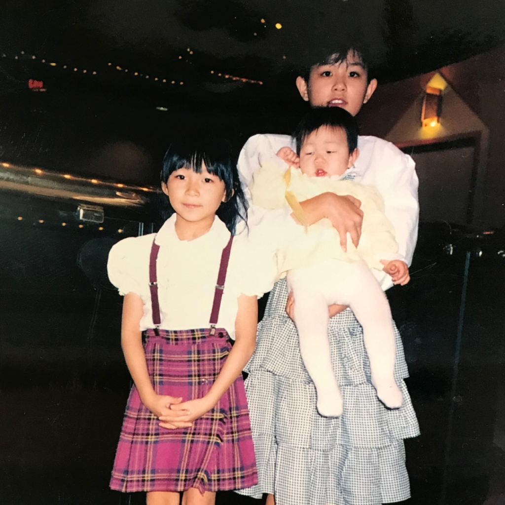 Lizz (middle sister), Maureen (youngest sister), Amy (oldest sister) c. 1987-1988